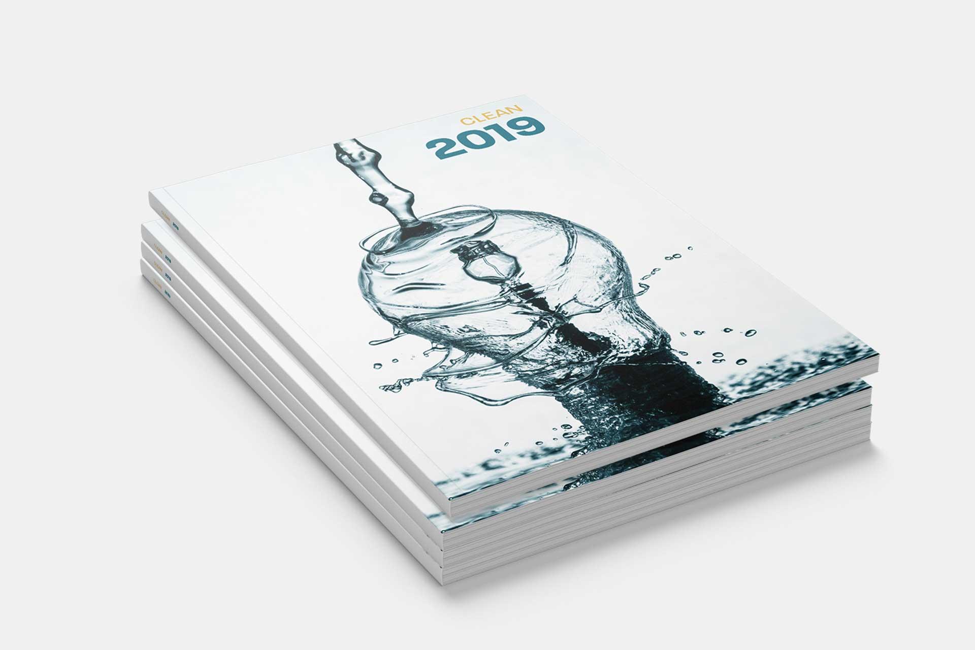 Clean årsrapport 2019 grafisk design