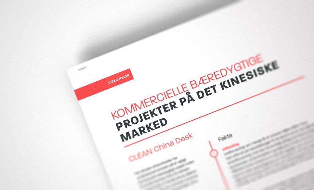 Close up grafisk design af årsrapport