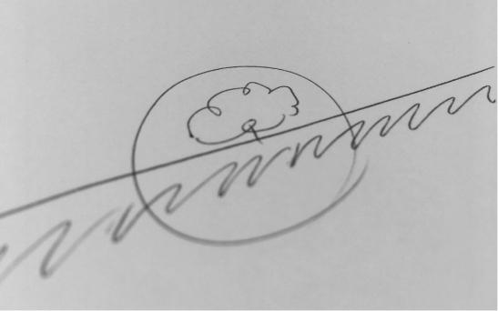 Logo sketch til Afrikas Horisonter proces billede