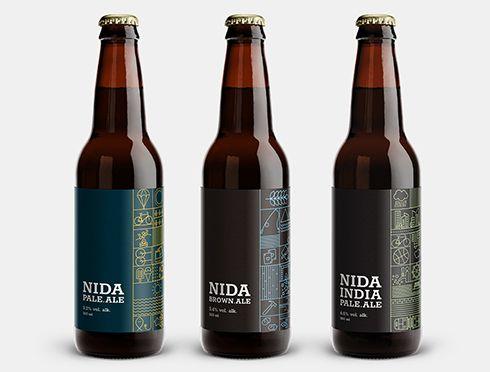 Billede af Nida beer ølflasker